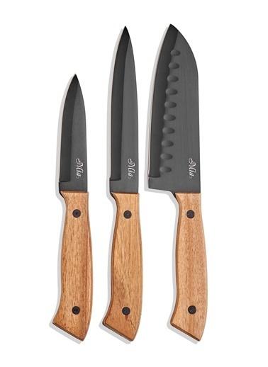 Cutt Mutfak Bıçak Seti Siyah - 3 Lü Set-The Mia